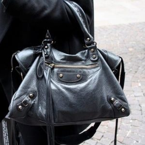 Balenciaga Agneau Lamb City Bag